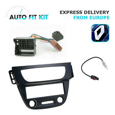 Renault Megane III 1 Din Single DIN Fascia Radio Stereo Replacement Kit Fakra