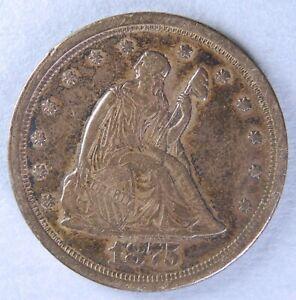 1875 S SEATED LIBERTY TWENTY CENT PIECE *7309