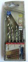 Lux tools kit HSS Punte legno 5 pezzi profi plus 5* misure 3,4,5,6,8 ø trapano