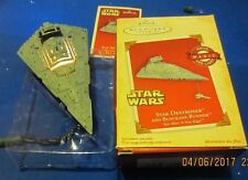 HALLMARK ORNAMENT 2004 STAR WARS STAR DESTROYER AND BLOCKADE RUNNER~NEW~TESTED!