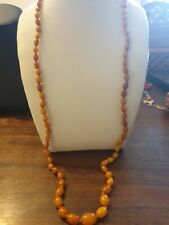 vintage real butterscotch amber necklace 17 grmes