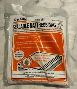 Uhaul Mattress Bag Full/Twin For Moving Plastic Cover Protector New