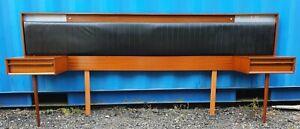 Retro Mid Century 1960's AUSTINSUITE TEAK & ROSEWOOD Headboard + bedside tables
