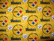 PITTSBURGH STEELERS DISTRESSED ON GOLD NFL FOOTBALL CURTAIN VALANCE NEW 58 X 15