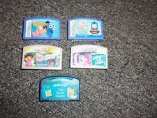 Lot of 5 Leap Frog Cartridges Dora Finding Nemo Thomas the Train