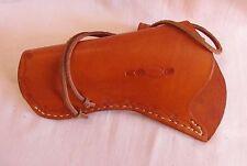New handmade genuine saddle-tan leather L/H cross-draw holster western cowboy