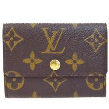 Auth Louis Vuitton Porte monnaie plat Coin Case Wallet Monogram M61930 BN 09B543