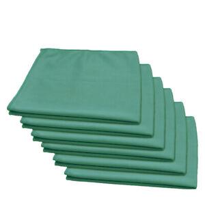 "6 Pcs Microfiber Glass Window Auto Home Cleaning Towel 16""x16"" Green"