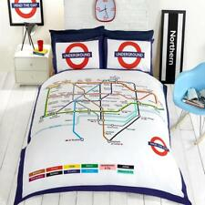 London Underground Multi Color Map Design Reversible Double Duvet Set By Rapport