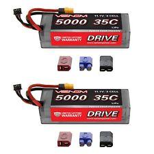 Venom 35C 3S 5000mAh 11.1V LiPo Hardcase RC Battery with Universal Plug x2 Packs