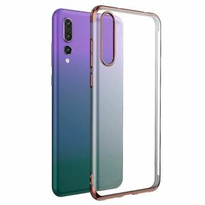 Case For Huawei P20 Pro P Smart Stylish Hybrid Shockproof Plating Silicone Cover