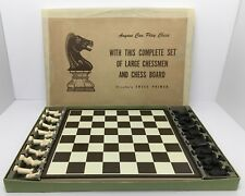 Drueke Chess Primer Vintage Complete Set With Board And Box Old Made In USA