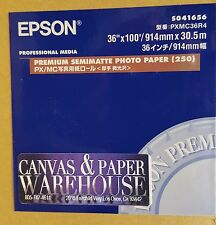 "Epson 36"" x 100' Semi Matte Photo Paper S041656 (Not Matte, Virtually SemiGloss)"