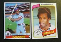 1979 Topps Baseball #285 and 1980 #410 Bobby Bonds