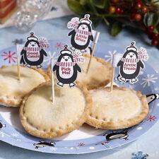 Pingüino De Navidad Mince pie selecciones de Fiesta/Navidad need more kitchen amenities Sticks/Toppers/Decoración
