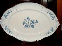 neuwertig Val Bleu Platte oval 42 cm / große Fleischplatte Villeroy & Boch