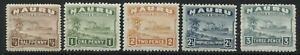 Nauru 1937-48 values to 3d on chalky paper mint o.g.