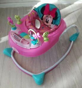 Bright Starts walker Minnie Mouse peekaboo bows n butterflies Baby  musical