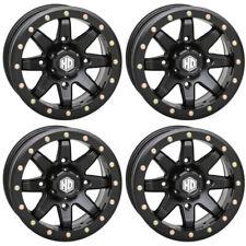 4 ATV/UTV Wheels Set 15in STI HD9 Beadlock Matte Black 4/137 5+2 CAN
