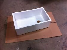 "Barclay FS30 Apron Farmhouse Farmer Fireclay 30"" Single Bowl Kitchen Sink White"