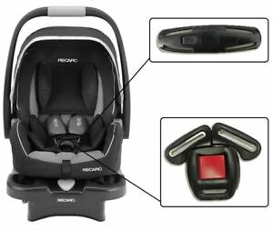 Recaro Infant Baby Car Seats Harness Chest Clip & Crotch Buckle Safety Set NEW