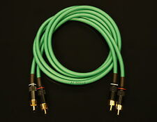 Van damme vert ultra 4 mètre paire interconnect cables rca to rca (phono)