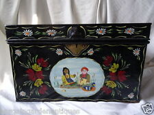 Classic Rosie & Jim Hand Painted Metal Canal Boat Chest Trunk Coffee Table