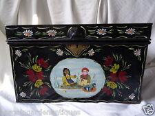 Classic Rosie & Jim peint à la main métal Canal Bateau Poitrine Coffre table basse