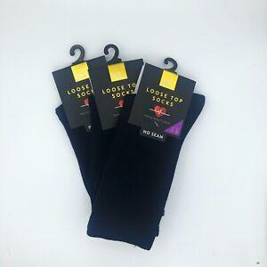 Cotton Circulation Socks-3 PAIR PACK,Comfort Top,Medical Top,Diabetic Socks