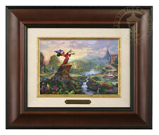 Thomas Kinkade Disney's Fantasia Framed Brushwork (Burl Frame)