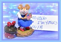❤️Wee Forest Folk M-080b I'm Yours USA American Patriotic Heart LIMITED WFF❤️