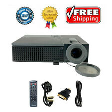 Refurbished Dell 1609WX DLP Projector Portable 2500 ANSI HD HDMI-adapter bundle