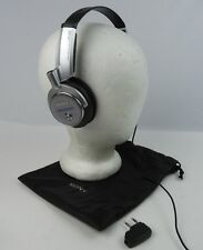 Sony Noise Cancelling MDR-NC6 Headphones Silver w/ Bag & Adapter Works Perfect