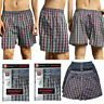 3,6,12 packs Men's Boxers Briefs Underwear Cotton Plaid Trunk Shorts Lot S - 3XL