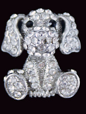 Venetti Diamante dog puppy brooch Costume jewellery Badge Dress Gift present