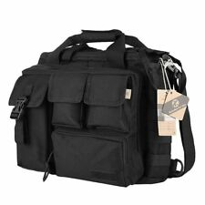 "Koolertron Military Tactical Men's Nylon Messenger Bag fits 14"" Laptop - Black"