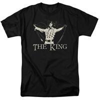 Elvis Presley Ornate King T Shirt Licensed Rock N Roll Music Tee Black