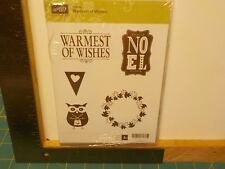 STAMPIN UP WARMEST WISHES & NOTEWORTHY DIGITAL CD CLEAR MOUNT STAMPS NEW A13727