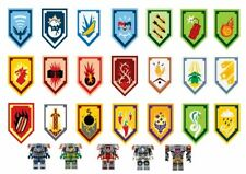 38 Lego Nexo Knights Power Shield CUPCAKE TOPPERS PRINTED EDIBLE ICING PRE CUT