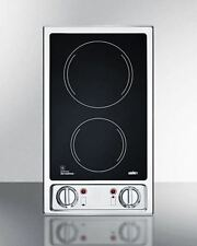 Two Burner 120V Electric Cooktop with Black Ceramic Glass Surface