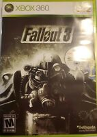 Fallout 3 (Microsoft Xbox 360, 2008) No Manual*