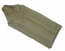 Vintage Army Sleeping Bag olive wooden toggles old unique cotton genuine retro