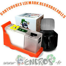RECHARGEABLE-  Kit Cartouche Rechargeable LEXMARK 100 Black Garantie ENCROS