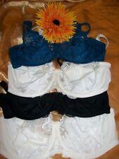 M & S U/W black 36A/40DD/steel blue 34D/LT cream 36DD/ white 34F full cup bras