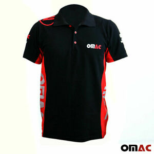 OMAC Logo T-Shirt Slim Fit Oversized Black Red Tops Cotton