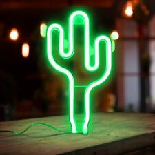 � Led Cactus Neon Sign Wall Decor Battery Operated Night Lights Lamps Art �