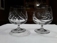 Lead Crystal Pinwheel Cognac / Brandy Snifters / Glasses. Whisky. Bourbon
