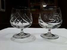 Pinwheel Lead Crystal Cognac / Brandy Snifters / Glasses. Whisky. Bourbon