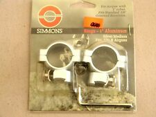 "Simmons Scope Rings- 1"" Silver Medium - 49170"