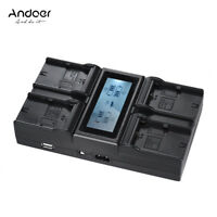 Andoer LP-E6 LP-E6N 4-Channel Camera Battery Charger Suitable for Canon US Plug